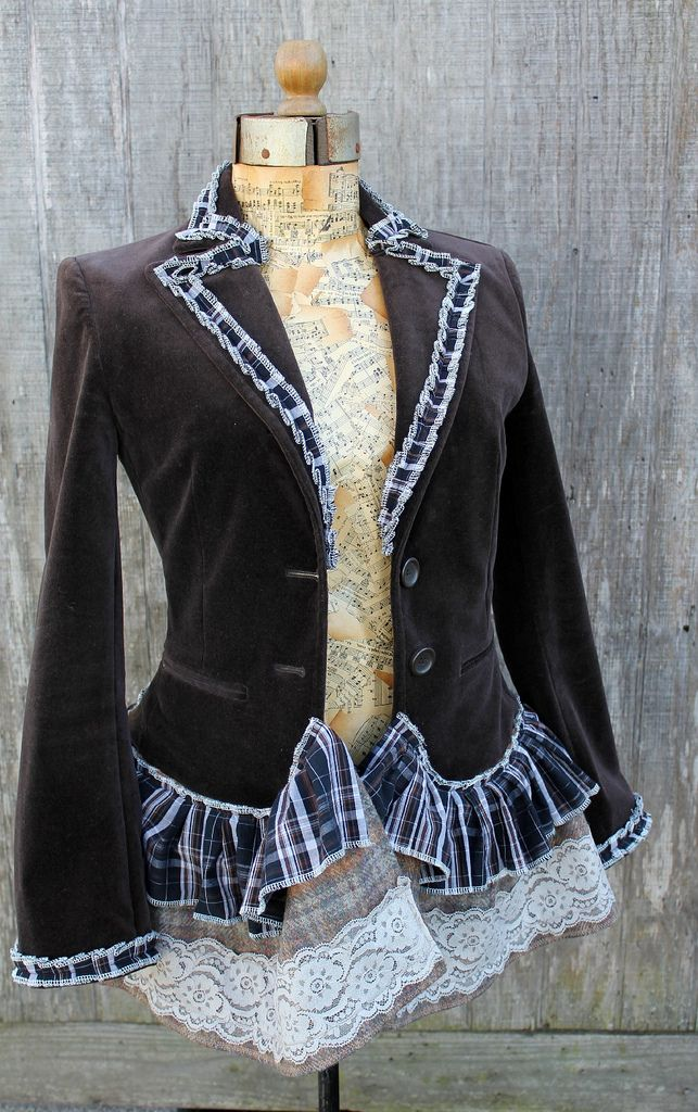 altered refashioned jacket | par Regina Moore