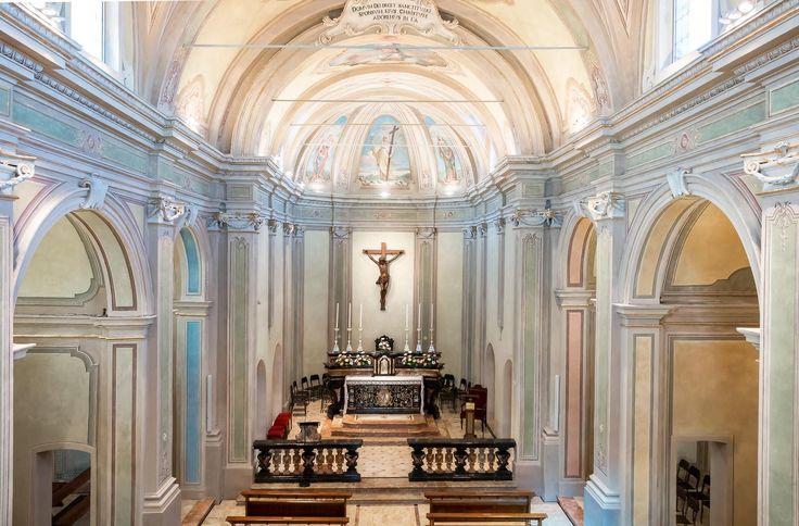 Chiesa San Michele Arcangelo di Certosa Fornitura apparecchi di #illuminazione #viabizzuno #tessera #cornice spot two