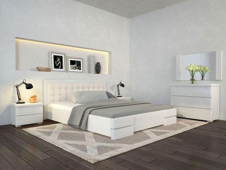 Кровать Регина люкс, двуспальная модель из сосны, купить мебель для спальни, гарантия производителя, Киев, Бровары