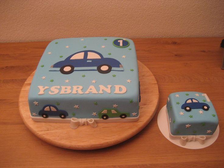 taart met auto