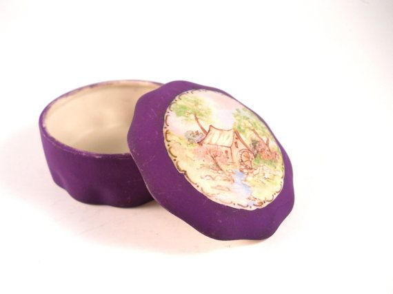 A Purple Trinket Treasure Keepsake Ring Box by MissPattisAttic