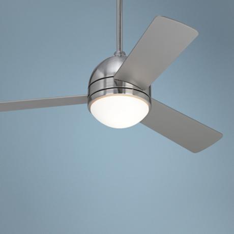 "44"" Casa Vieja Trifecta Brushed Nickel Ceiling Fan"