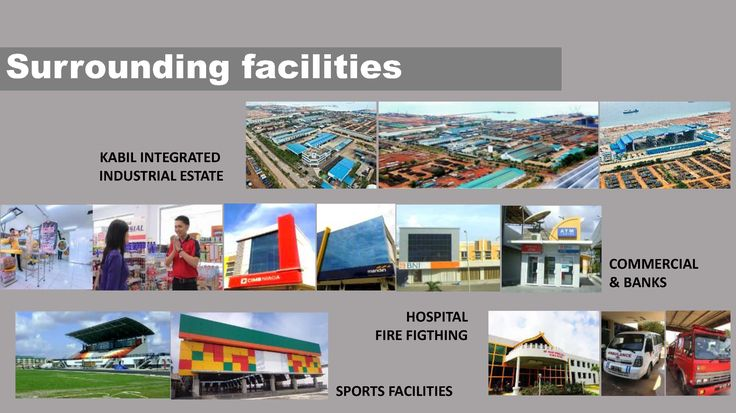 FACILITIES  SURROUNDINGS (within 1 km)  3.Industrial / logistic. 4.Commercial facilities, bank, minimarket,