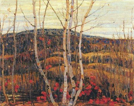 A.Y. Jackson. Maple And Birches.