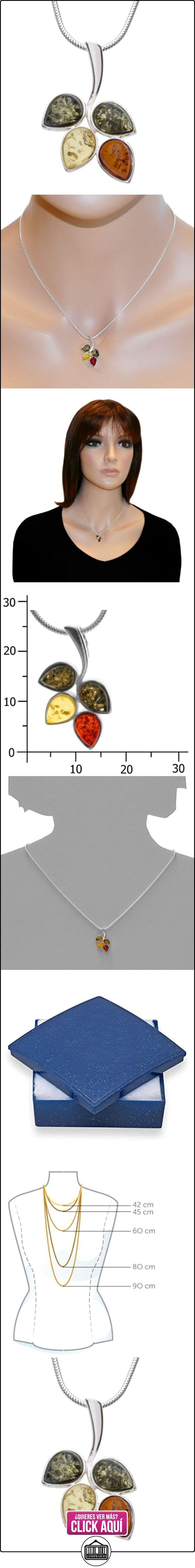In Collections 242A204003340 - Collar de mujer de plata de ley con ámbar, 42 cm  ✿ Joyas para mujer - Las mejores ofertas ✿ ▬► Ver oferta: http://comprar.io/goto/B0054O4OQ8
