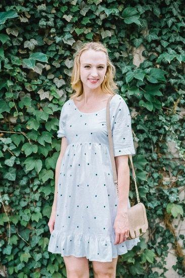 Ein weißes gepunktetes Kleid ist ein großartiger Casual-Look, wenn Sie Besorgungen machen oder einen Freund zum Mittagessen treffen. #ssCollective #ShopStyleCollective #ootd #mylook #MyShopStyle #springstyle #currentlywearing #lookoftheday #summerstyle #wearitloveit #getthelook #todaysdetails #polkadots