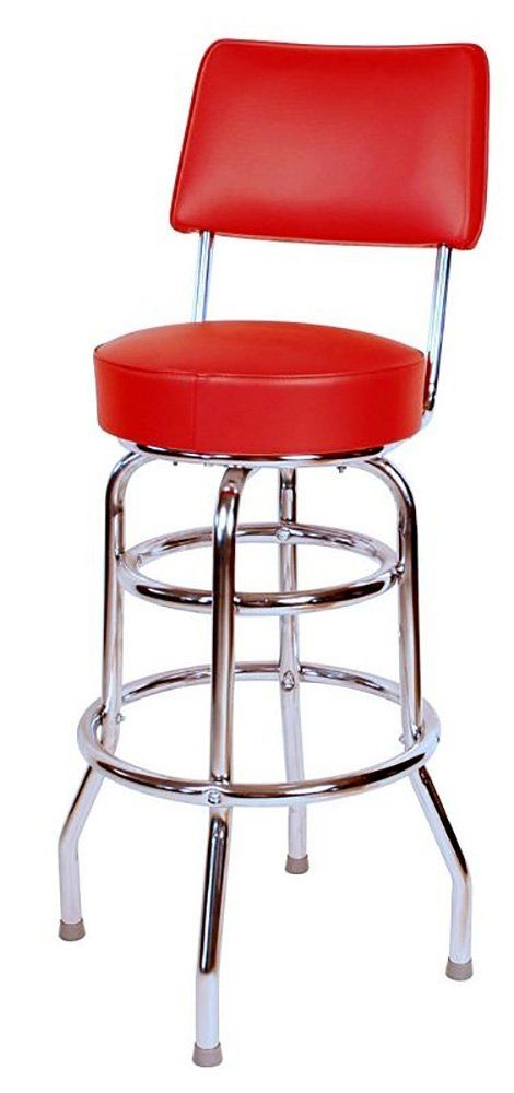 Amazon Com Double Ring Commercial 30 Inch Bar Stool With