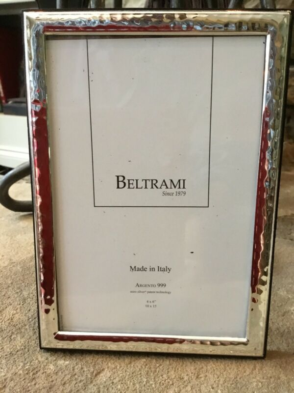 New Beltrami 4 X 6 925 Hammered Silverplate Frame Made In Italy Classic Frames Ebay Link In 2020 Frame Sheffield Home Silver Plate
