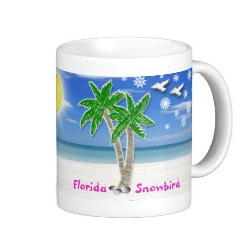 gifts snowbirds florida snowbird beach text