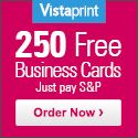 250 FREE Business Cards from Vistaprint! Just Pay Shipping!