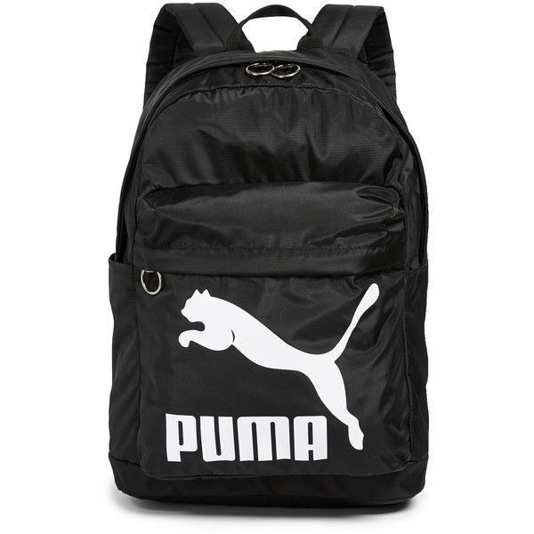 PUMA Originals Backpack ($35) ❤ liked on Polyvore featuring bags, backpacks, black, nylon backpack, top zip backpack, zip top bag, nylon zipper bag and zip bag