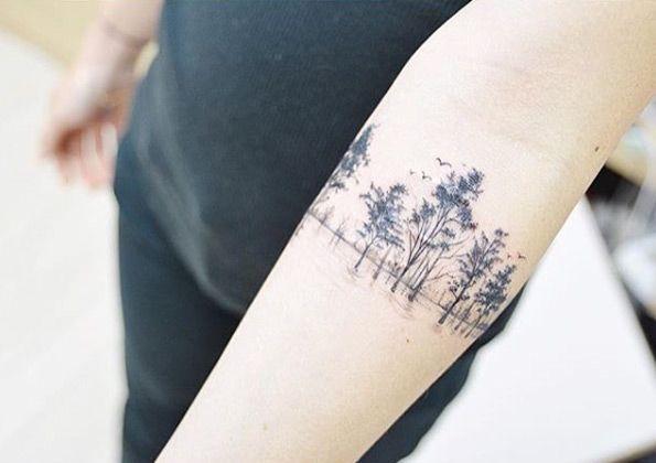 Treeline armband tattoo by Banul                                                                                                                                                      More