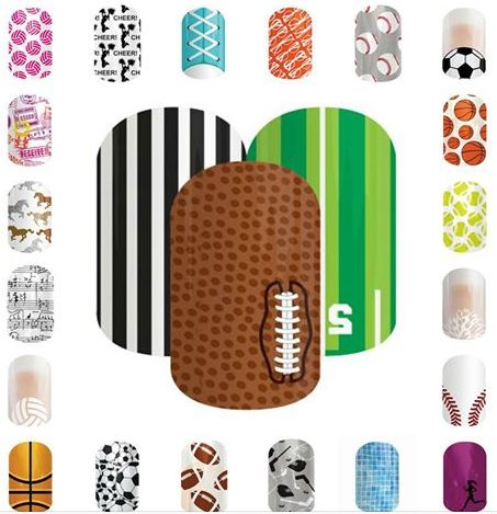 jamberry sports themed wraps, Nailart Designs Easy DIY ways to decorate your nails for Baseball, Basketball, Football, Soccer, Tennis, Volleyboll, and more. I WANT THEM ALL>