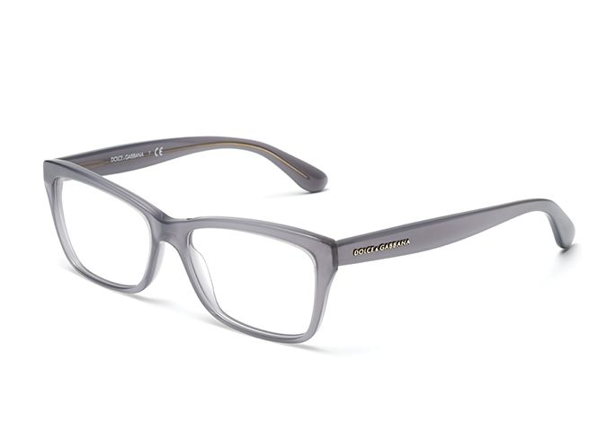 Womens pale gray eyeglasses with rectangle frame Dolce ...
