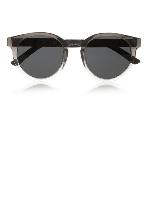 Round-Frame Acetate and Leather Sunglasses, $190.06; theoutnet.com