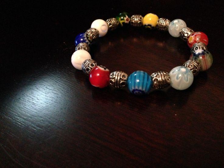 RENASCI accessories pulsera vidrio murano y herrería hindu ...