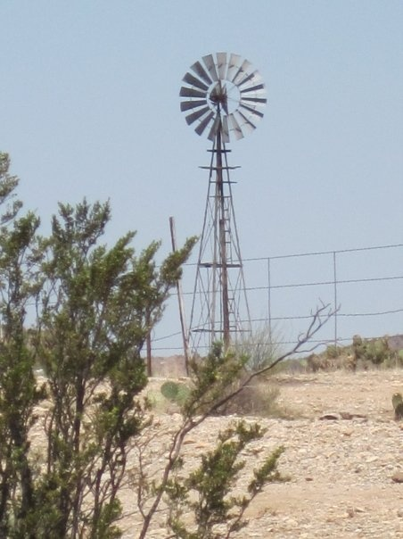 Windmill in west Texas