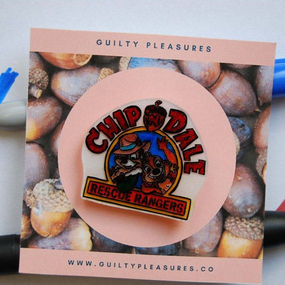 Chip & Dale Pin. Rescue Rangers Pin.