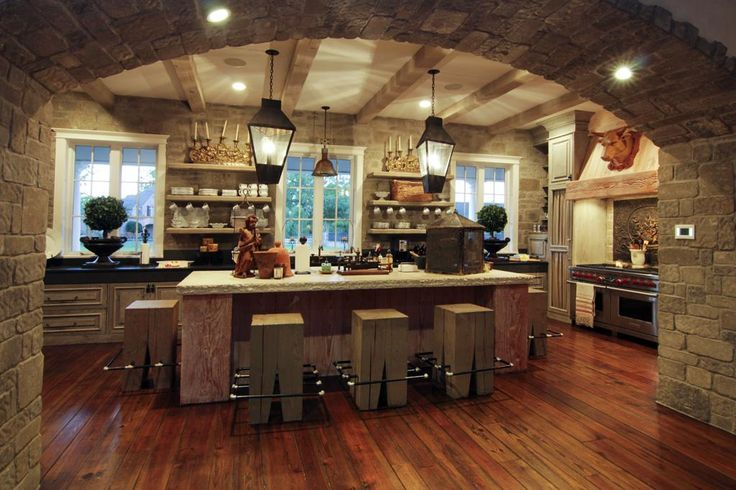 More from my fav house.  Breakfast bar at the kitchen island with arched opening to the Great Room