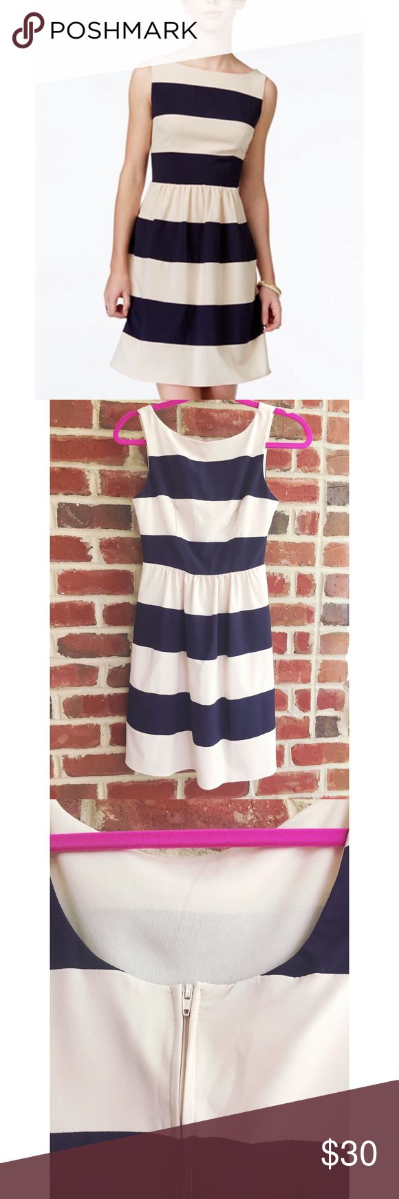 B. Darlin Nautical Sundress This dress is so cute and is perfect for work and play! The back has a scoop with a zip up closure. It's a must have for your closet! Only worn once! Fits like a 2. B Darlin Dresses Mini