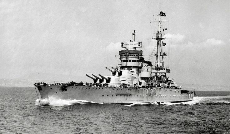 Italian battleship Conte di Cavour.[2000x1168]