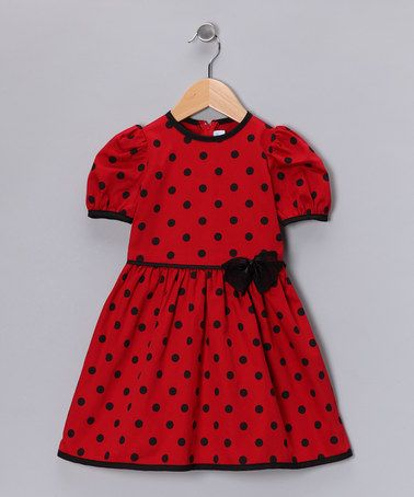 Take a look at this Red Polka Dot Dress - Infant, Toddler & Girls by Dreaming Kids on #zulily today!