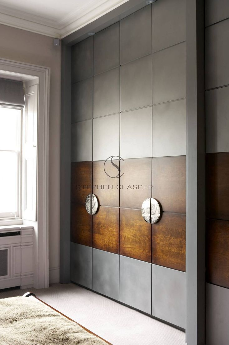 closet doors.  Interior Design: Kensington - Stephen Clasper Interiors