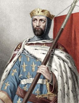 King Louis VII of France, son of Adelaide, Queen of France and grandson of Umberto II, Count of Savoy. Leader of the Second Crusade. Umberto II, Count of Savoy's grandson.