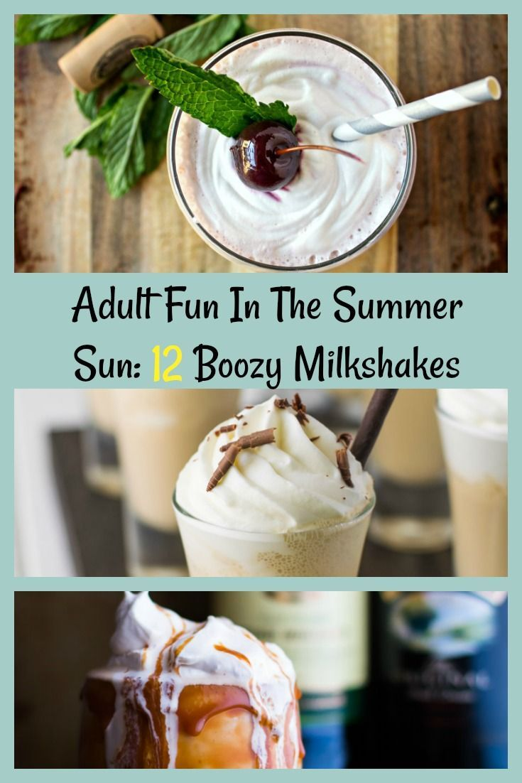 Hot summer nights and a nice refreshing milkshake go well together. Also, kicking up that milkshake a notch by adding in a shot of alcohol makes it adult fun. After all, adults need to have something refreshing in the summer sun as well.