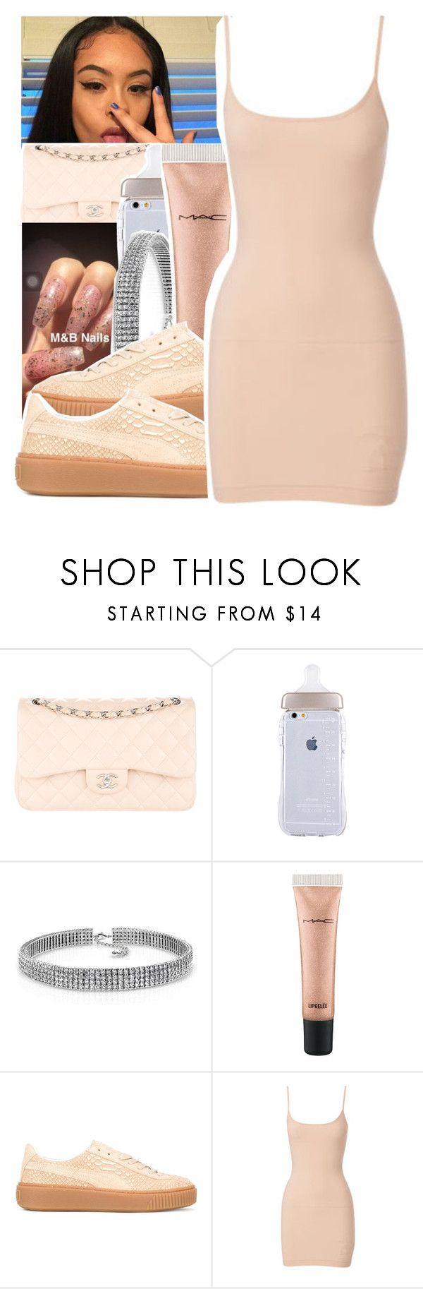 """""""Untitled #450"""" by princessjolie ❤ liked on Polyvore featuring Chanel, Bling Jewelry, MAC Cosmetics, Puma and Nearly Nude"""