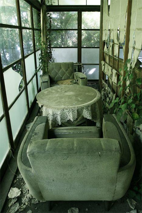 abandoned traditional Japanese restaurant