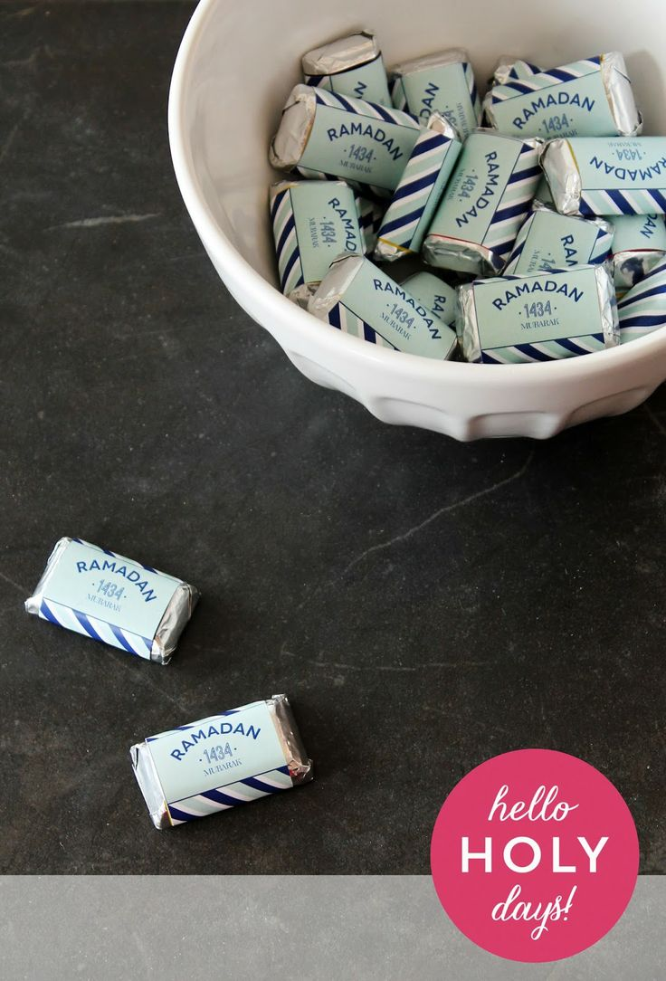 Ramadan chocolate wrappers - free printable
