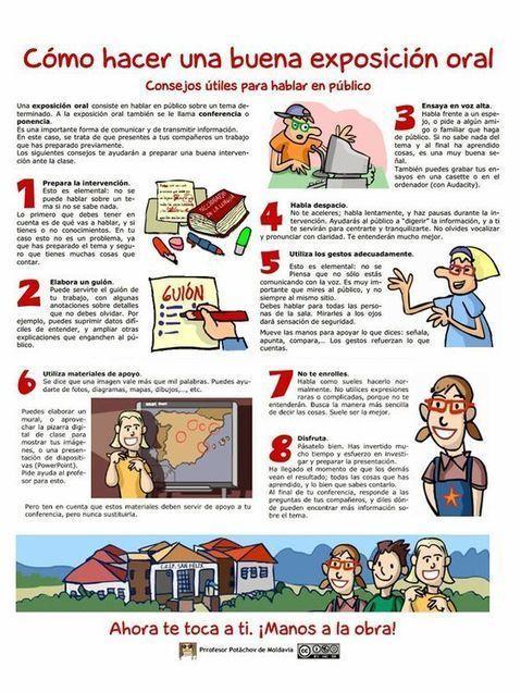 8 Útiles Consejos para Lograr una Buena Exposición Oral | Infografía