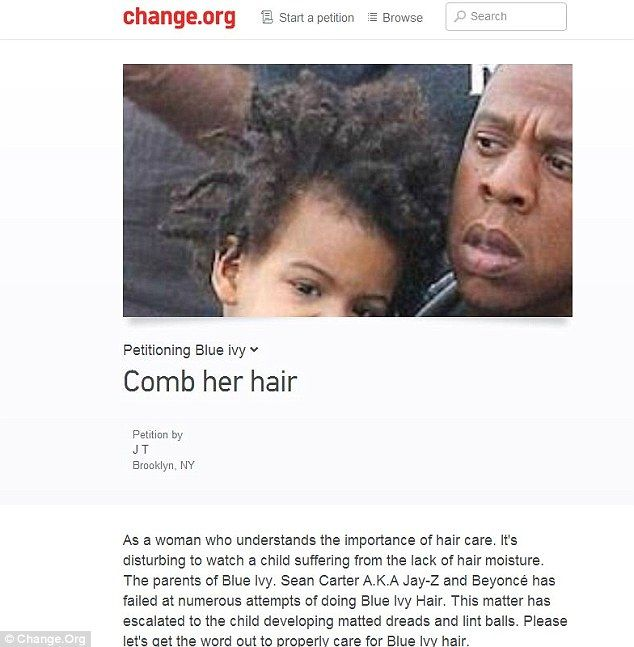 Petition asks Beyonce and Jay Z to take better care of Blue Ivyu0027s hair - importance of petition