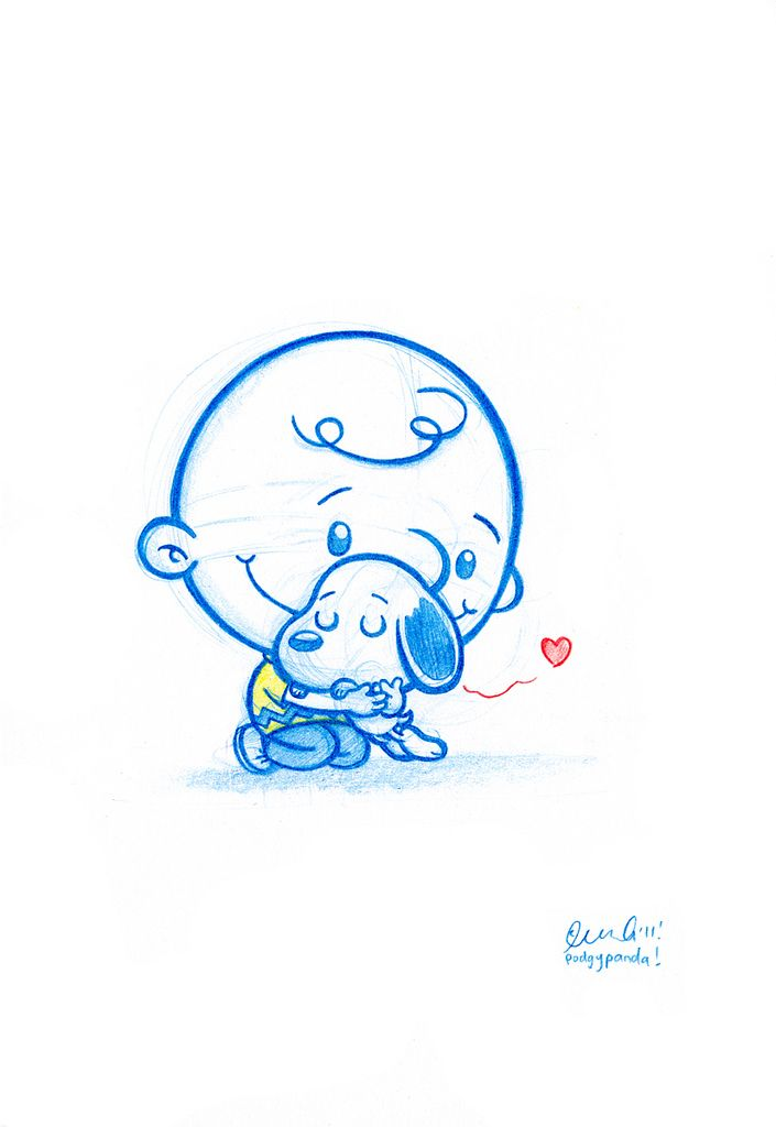 Blue Doodle #34: You're a good man Charlie Brown | Flickr - Photo Sharing!