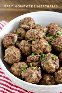Yellow Bliss Road How to Make Homemade Meatballs - Easy Homemade Meatball Recipe