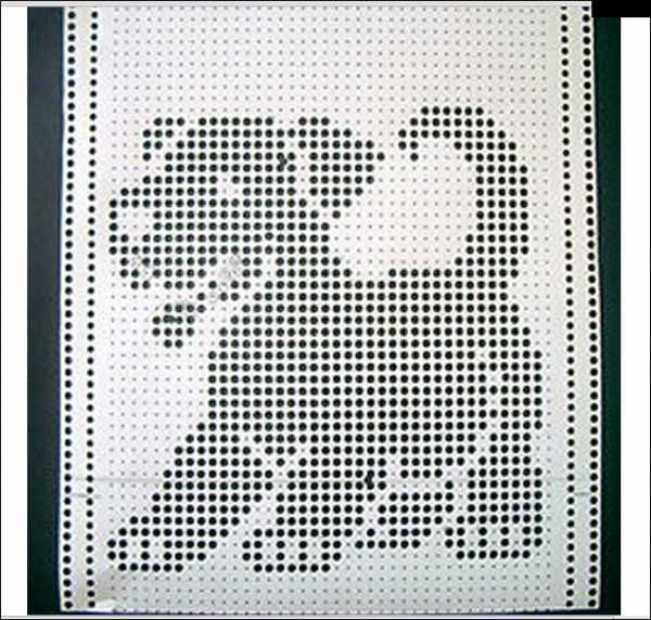 40 stitch puppy punch card for any electronic machine, however, this is a 40 st repeat suitable for the Duomatic 80.