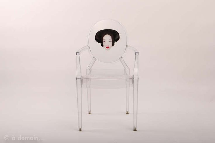 """Three """"Louis Ghost"""" chairs designed by Starck edited by Kartell, in 2003  #ModernsPIN"""
