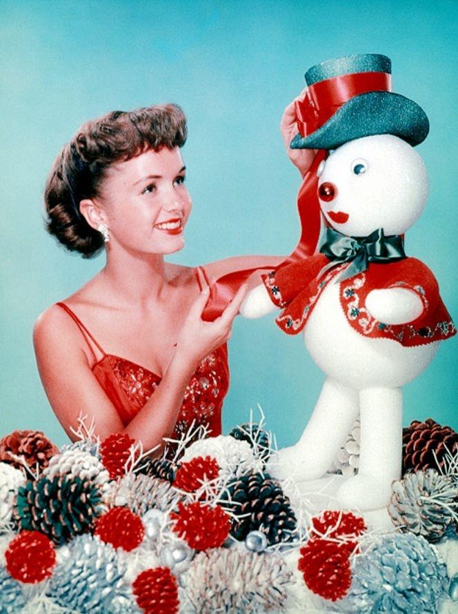 Debbie Reynolds vintage Christmas in Hollywood photo