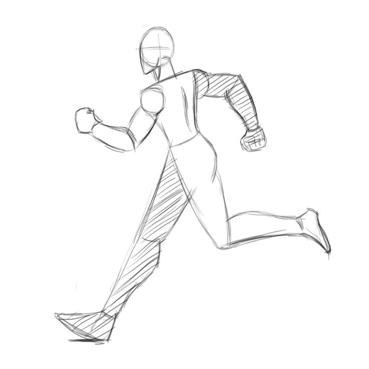 Animation Run Concept Art In 2020 Running Pose Running Drawing Pose Reference