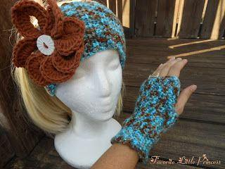 Crochet a matching pair of texting gloves and headband with this free crochet pattern.