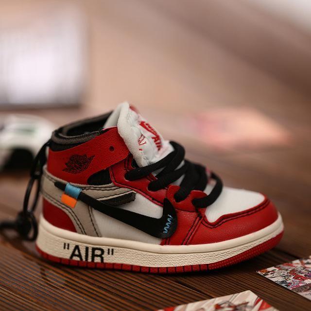 AJ1 OW Sneaker Keychains 3D Cute Basketball Shoes Pendant Creative ...