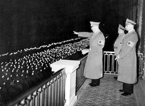 Adolf Hitler and Rudolf Hess, Nuremberg Rally, 1938 (via jochenmarseille)