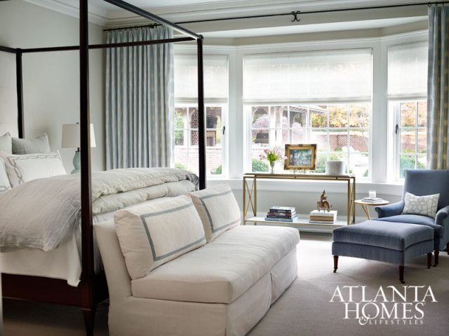 A Soft Color Palette In The Master Bedroom Makes For A Quiet And Cozy Sanctuary Chair And Sofa