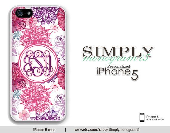 iphone 5 case  personalized  plastic or by SimplyMonogrami5, $17.99