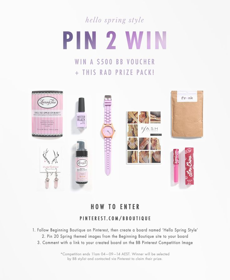 Comment below with a link to your created Hello Spring Style board to enter! http://bb.com.au/pinterest-comp-terms