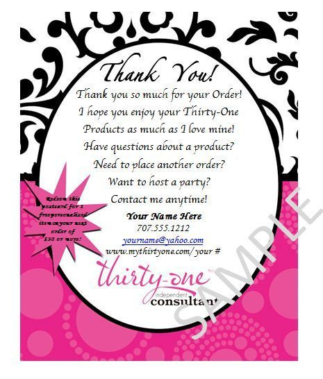 thirty one ideas- Thank You Cards / 31 ...