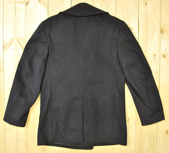 Vintage 1950's US NAVY Pea Coat / Korean War Era / Retro