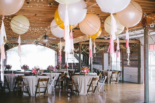 Intimate indoor receptions with Large Balloons and Tissue pom tails @Suzanne, with a Z., with a Z. click. Is this what you were thinking?