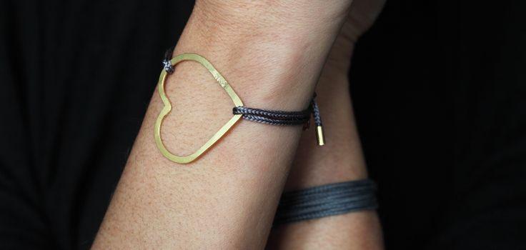 Gold & Silk Heart Bracelet - Find it at seemehearts.com